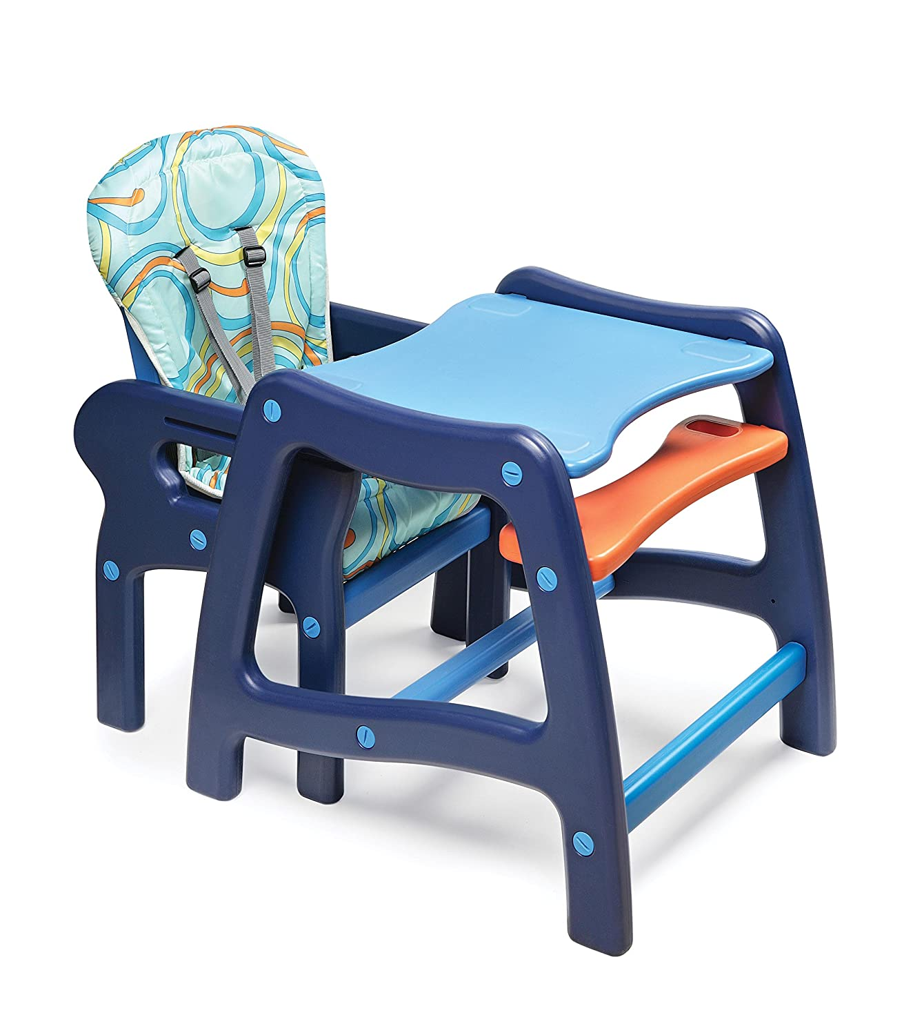 Amazon.com : Badger Basket Envee Baby High Chair with Playtable ...