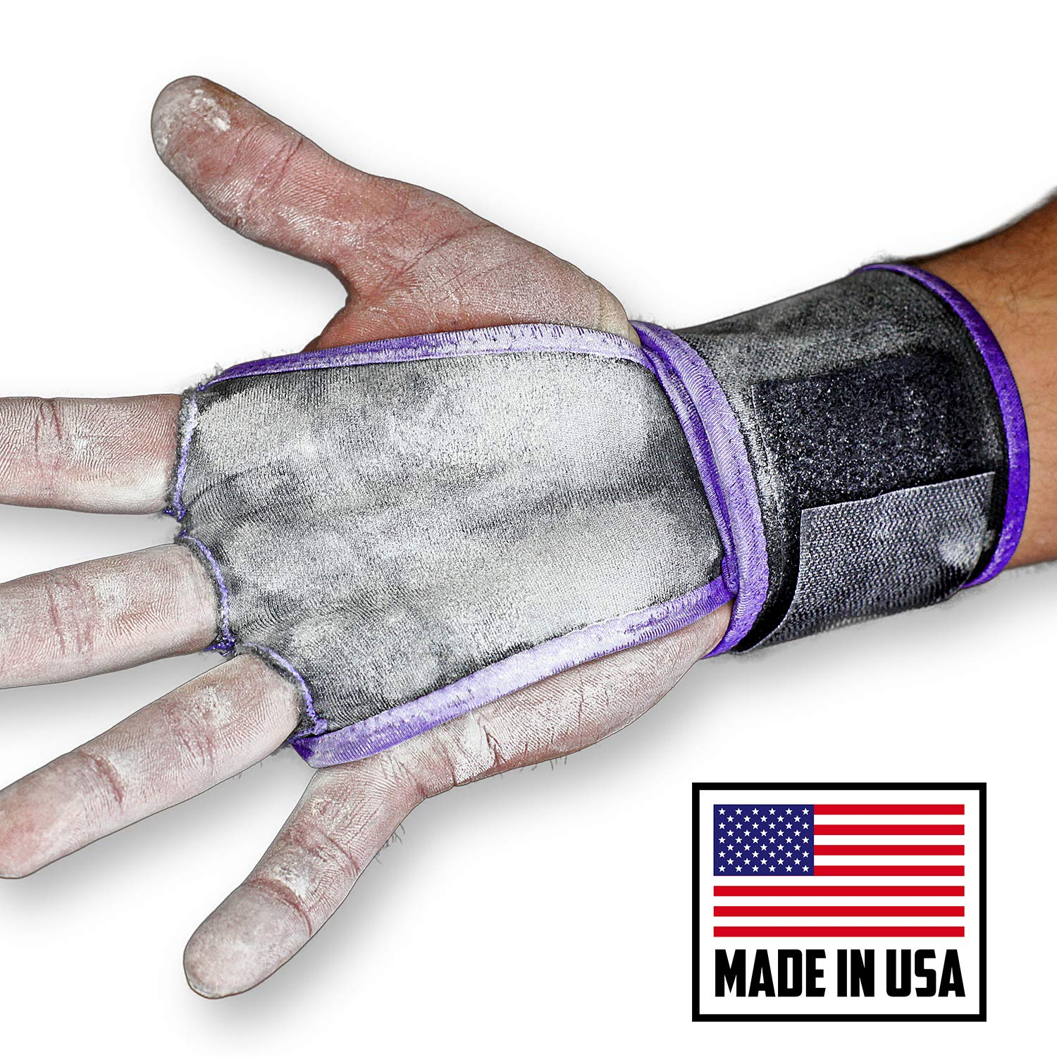 JerkFit WODies Full Palm Protection to Reduce Hand Tearing While Adding Crucial Wrist Support for Weightlifting, Workouts WODs, Cross Training, Fitness and Calisthenics (Purple, Small)