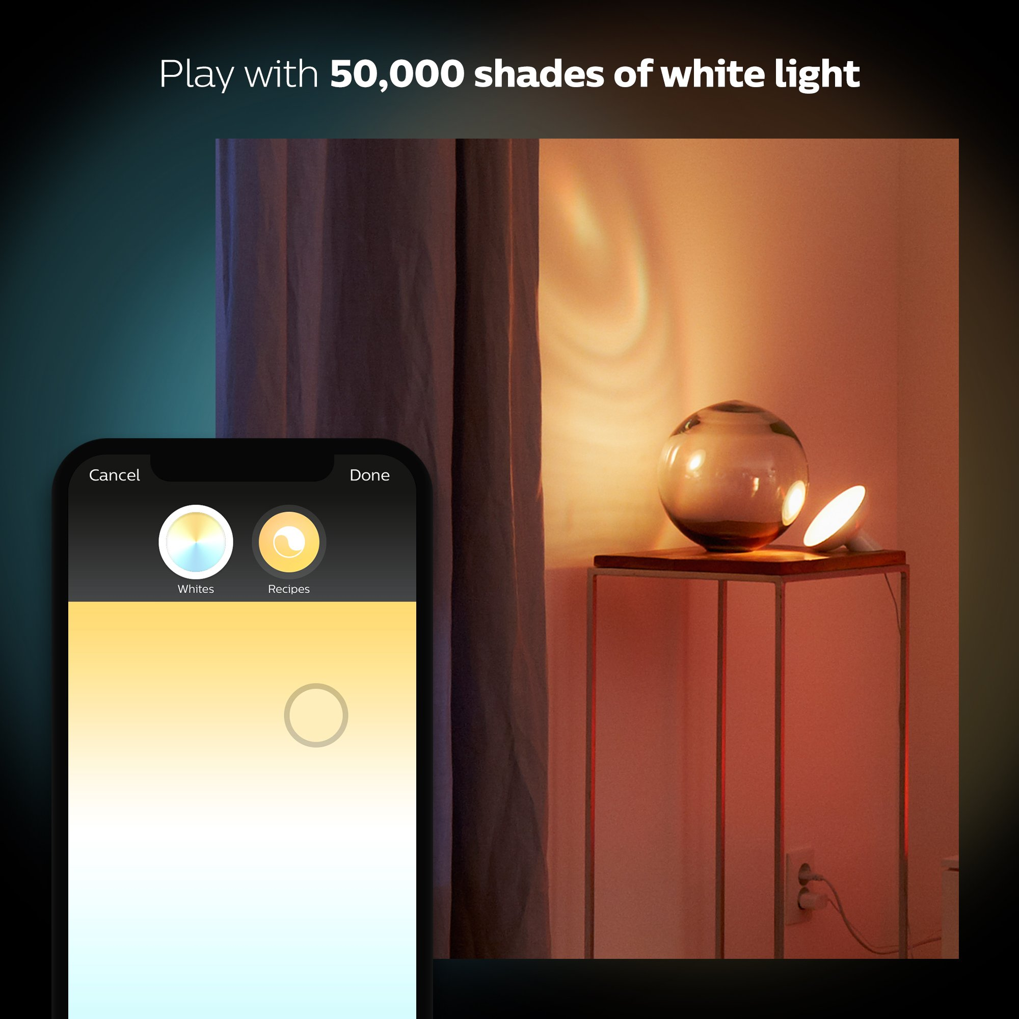 Philips Hue Bloom Dimmable LED Smart Table Lamp (Requires Hue Hub, Works with Amazon Alexa, Apple HomeKitand Google Assistant) by Philips Hue (Image #7)
