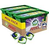 Ariel 3en1 PODS Color, Detergente En Cápsulas Superconcentrado, 114 Lavados (3 x 38)
