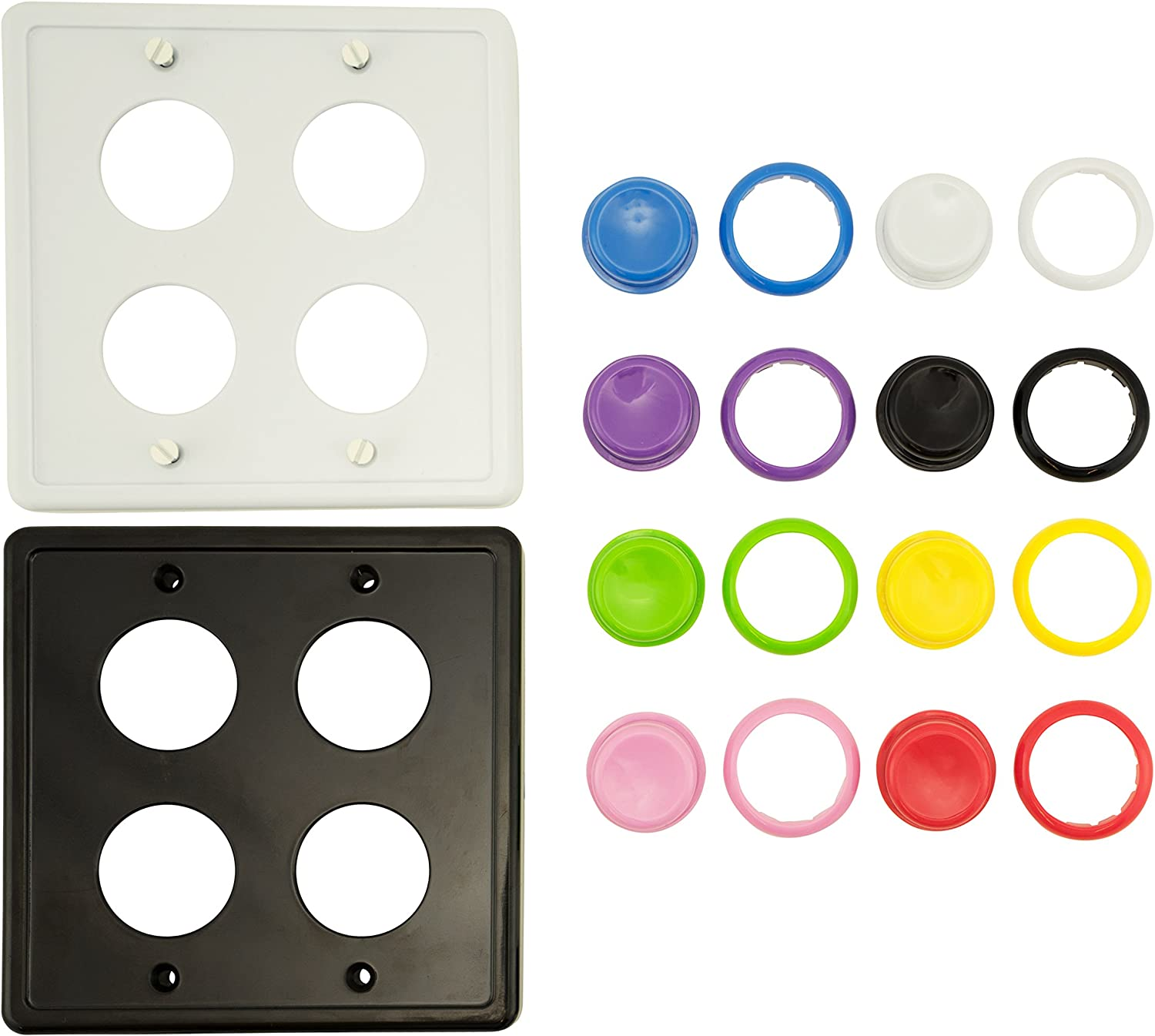 Arcade Light Switch Plate Cover Double Switch 1 Pack Custom Colors 2 Gang Standard Size Rocker Wall Plate Game Room Decorator Kid Bedroom Wallplate Faceplate Replacement Custom