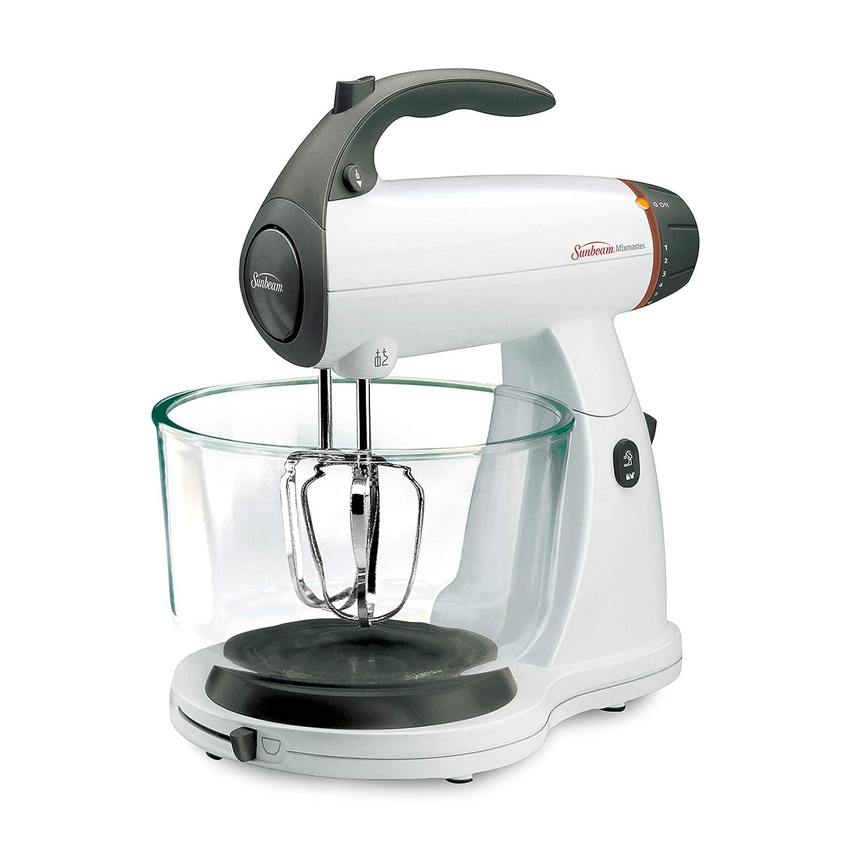 Sunbeam 002371-000-NPO MixMaster 350 Watt, White | Soft-Start Technology  Stand Mixer,