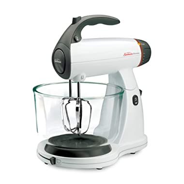Sunbeam 002371-000-NPO MixMaster 350 Watt, White | Soft-Start Technology Stand Mixer,