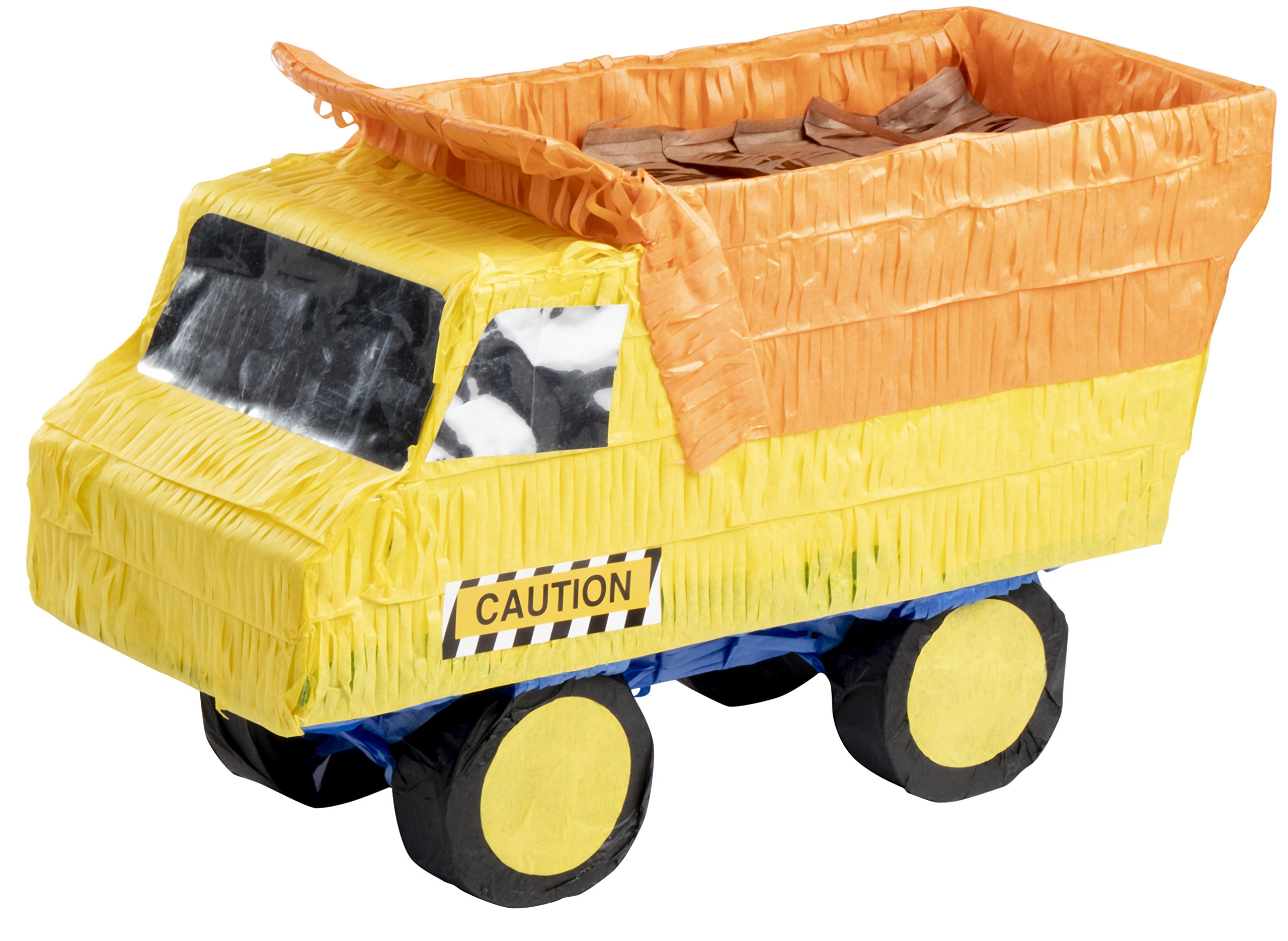 Blue Panda Small Dump Truck Pinata, Kids Construction Birthday Party Supplies, 15.5 x 9 x 6 Inches by Blue Panda