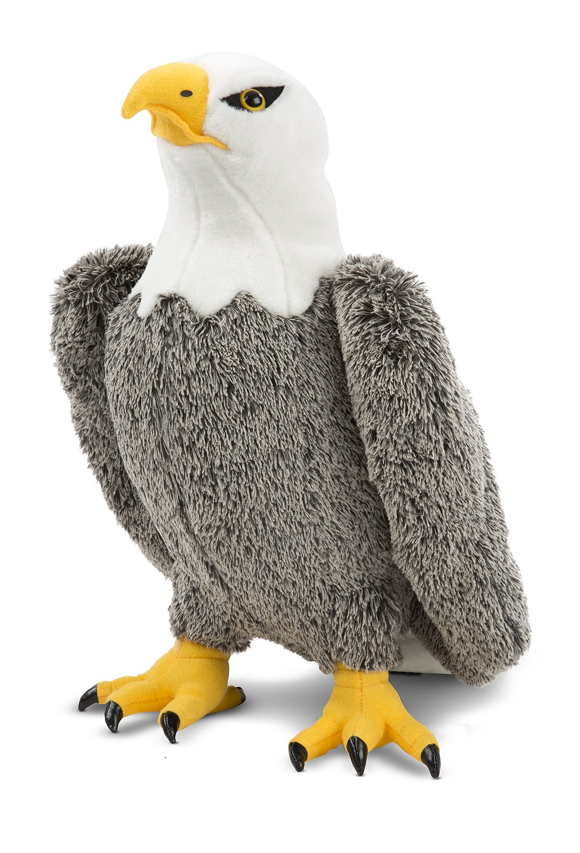 Melissa Doug Bald Eagle Lifelike Stuffed Animal 17 inches tall