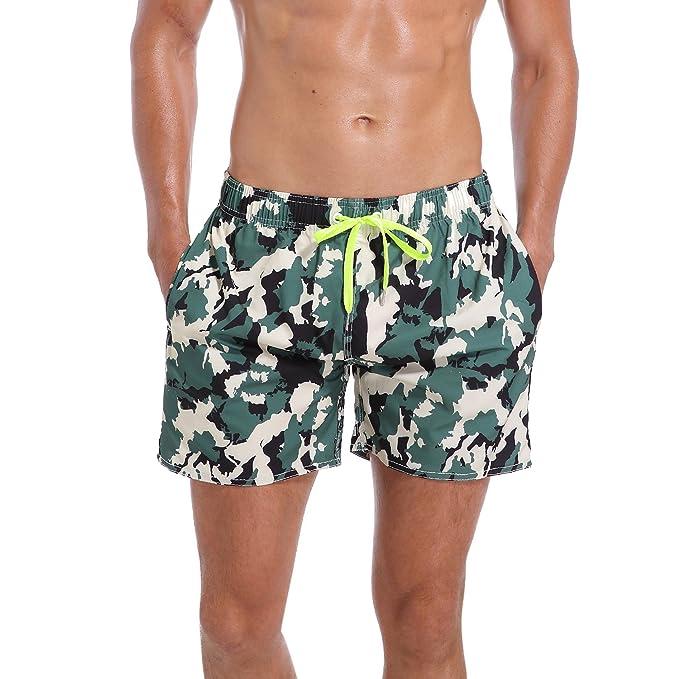 83ef75152e ORANSSI Men s Quick Dry Swim Trunks Boardshort Bathing Suit Beach ...