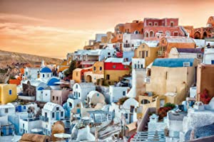 Ingooood- Jigsaw Puzzle 1000 Pieces- Sneak Peek Series- Glorious Greece_IG-0463 Entertainment Toys for Adult Special Graduation or Birthday Gift Home Decor