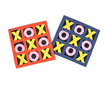 1 Dozen 5x 5 Foam Tic Tac Toe Games