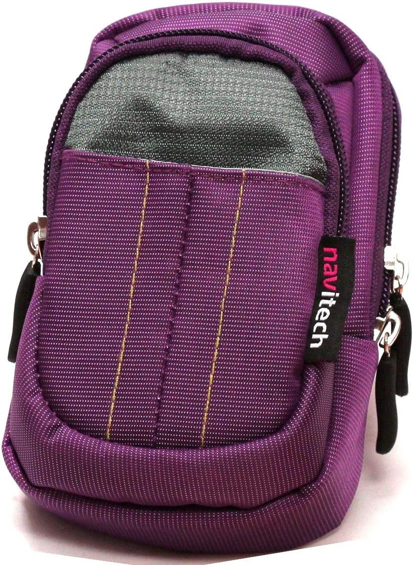 with Belt and Shoulder Strap Navitech Purple Protective Portable Handheld Binocular Case and Travel Bag Compatible with The Kowa BD25-8GR 8x25