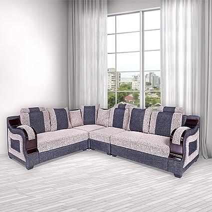 best website 07452 d81b8 Rajgarhwala Furnitures L Shape Sofa Sets for Living Room, L ...