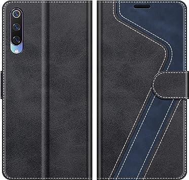 MOBESV Funda para Xiaomi Mi 9, Funda Libro Xiaomi Mi 9, Funda Móvil Xiaomi Mi 9 Magnético Carcasa para Xiaomi Mi 9 Funda con Tapa, Negro: Amazon.es: Electrónica