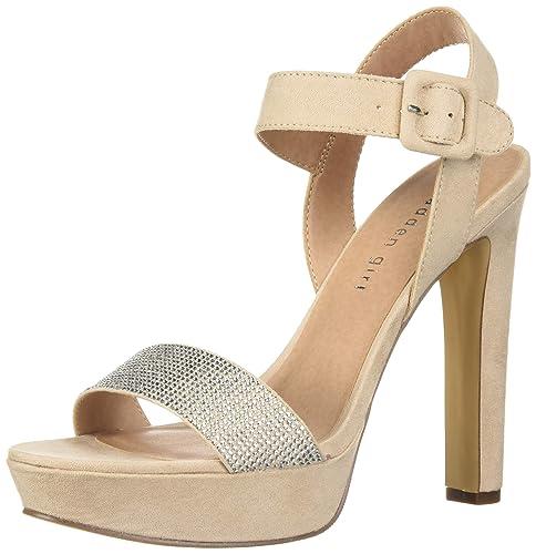 b13434b2ad1 Madden Girl Women s Rollo-r Heeled Sandal  Amazon.co.uk  Shoes   Bags