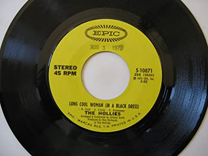 Hollies Long Cool Woman In A Black Dress 45 Rpm Single Amazon