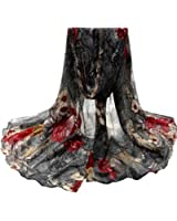 Winter Large Blanket Wrap Shawl, Winhurn scarfs for women lightweight Beautiful Fashion Voile Flower Long Size Women Scarf Wrap Satin-Silk Scarf NEW