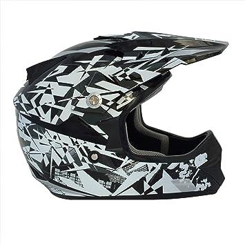 Viper Helmets Casco de Moto Para Niños Craze RSX13, Negro/Plateado, S (