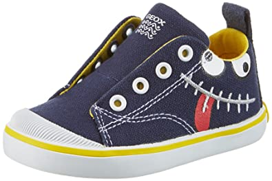 750a144459ae34 Geox B Kiwi Boy A, Chaussures Bébé Marche garçon, Bleu (NAVY/YELLOWC0657