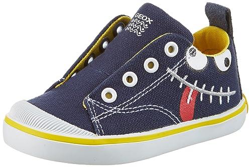 Geox Jr Kilwi Boy, Zapatillas para Niños, Azul (Navy/Yellow C0657), 33 EU
