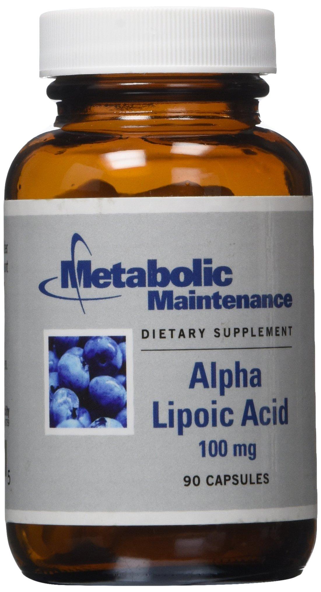 Metabolic Maintenance - Alpha Lipoic Acid - 100 mg, Antioxidant, 90 Capsules