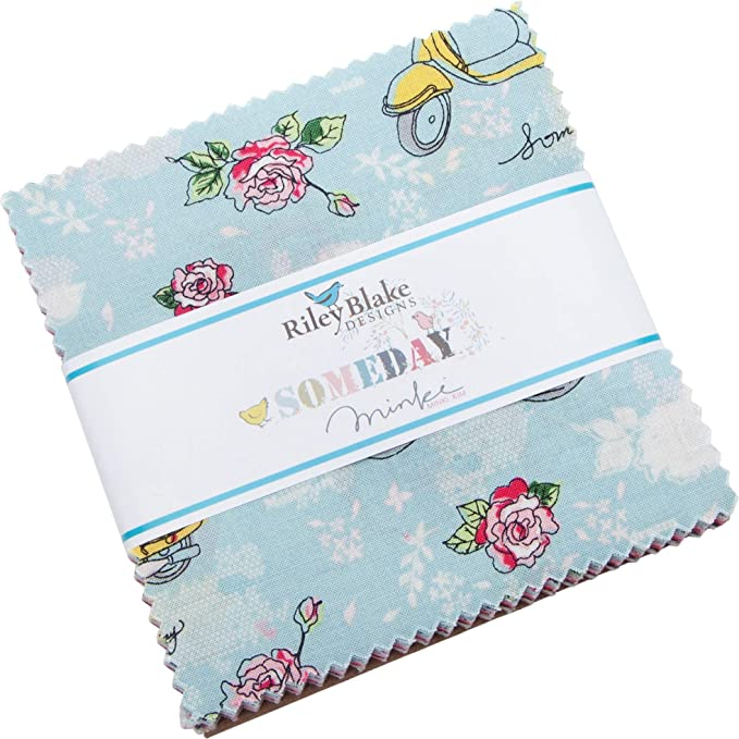 Confetti Cottons Off White 5 Stacker 42 5-inch Squares Charm Pack Riley Blake 5-120-OFFWHITE-42
