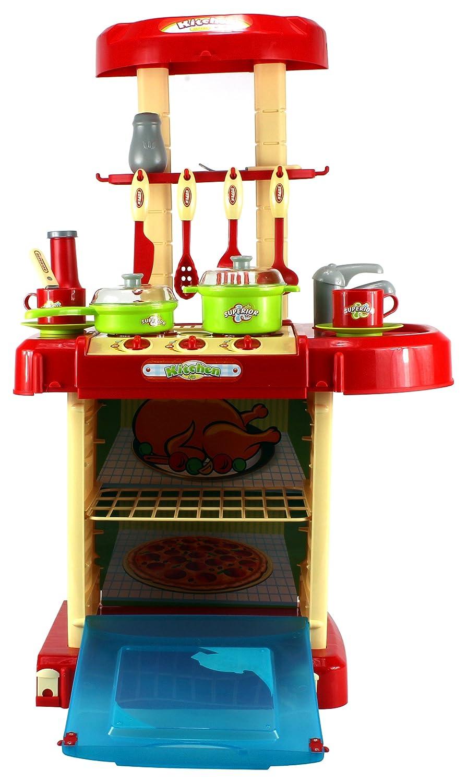 Amazon.com: GT Super Kitchen Childrenu0027s Kidu0027s Pretend Play Toy Kitchen  Playset W/ Pot, Pan, Utensils, Lights, Sounds: Toys U0026 Games