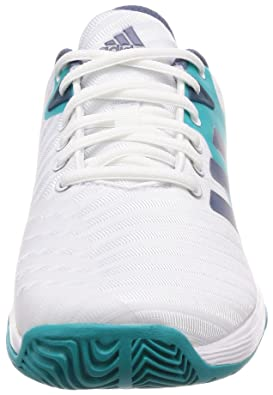 check out 74cf0 34708 adidas Womens Barricade Court Tennis Shoes White Amazon.co.uk Shoes   Bags