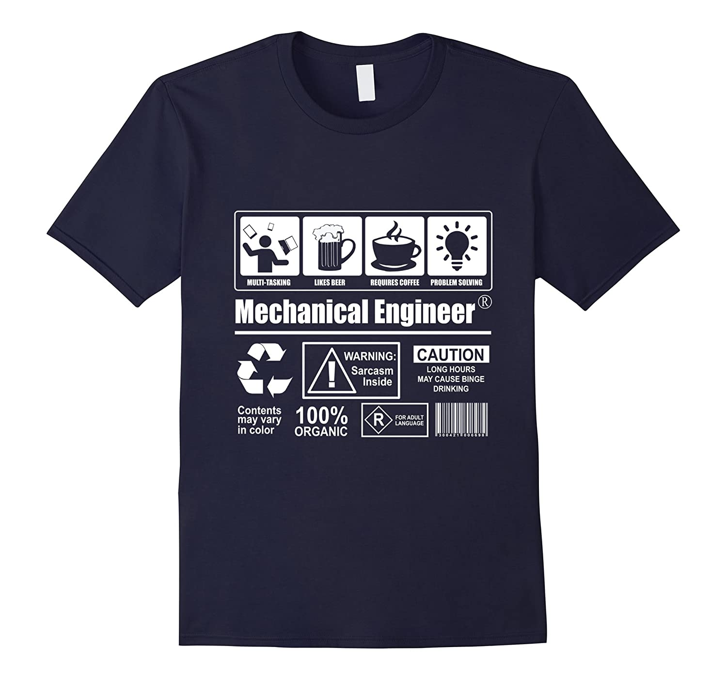 Mechanical Engineer T-Shirt Multi Tasking Beer Coffee-BN
