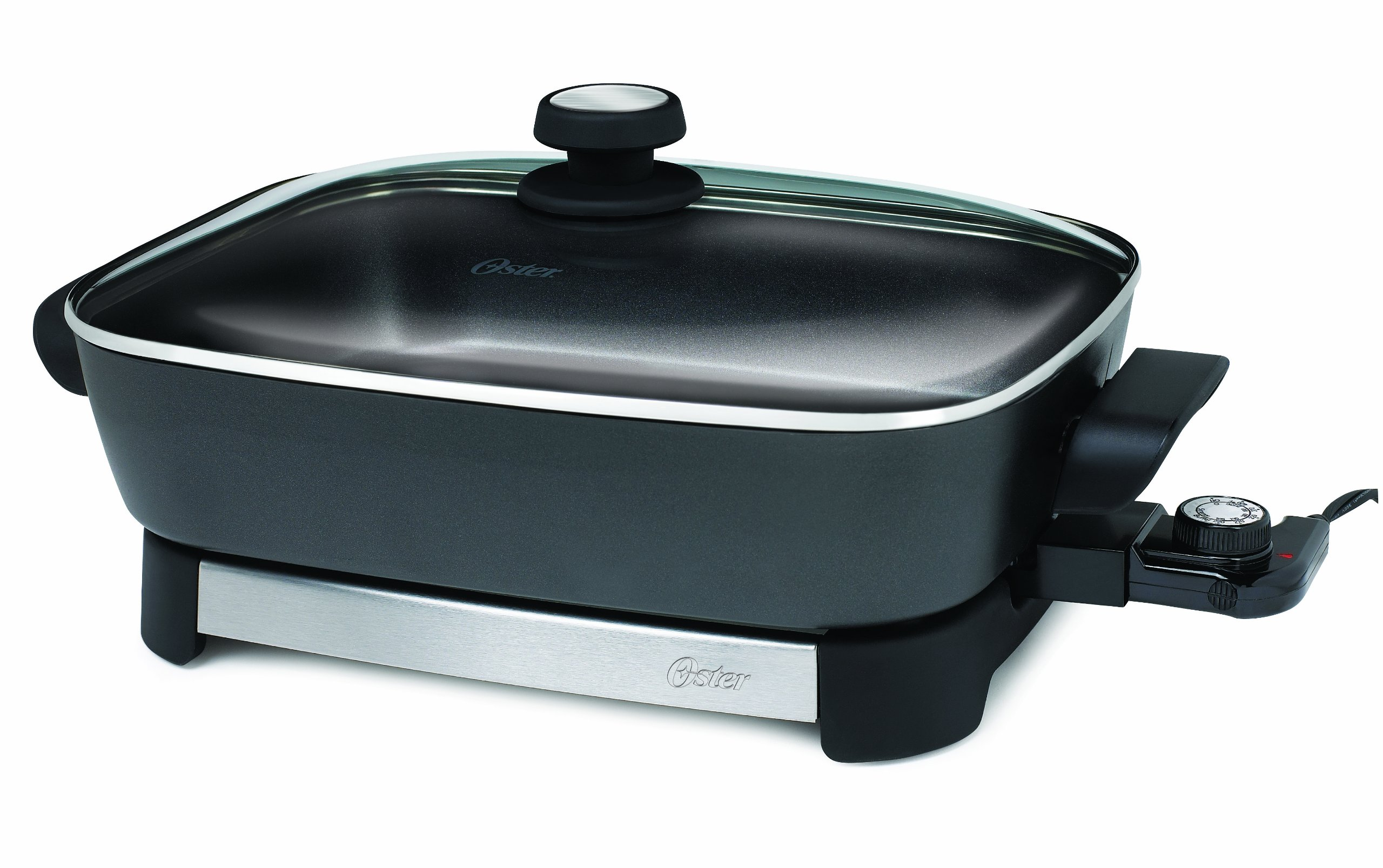 Electric Skillet 16 Inch Non Stick Surface Stainless Steel