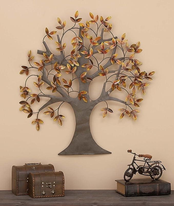 Amazon com deco 79 metal tree wall decor for elite class decor enthusiasts home kitchen