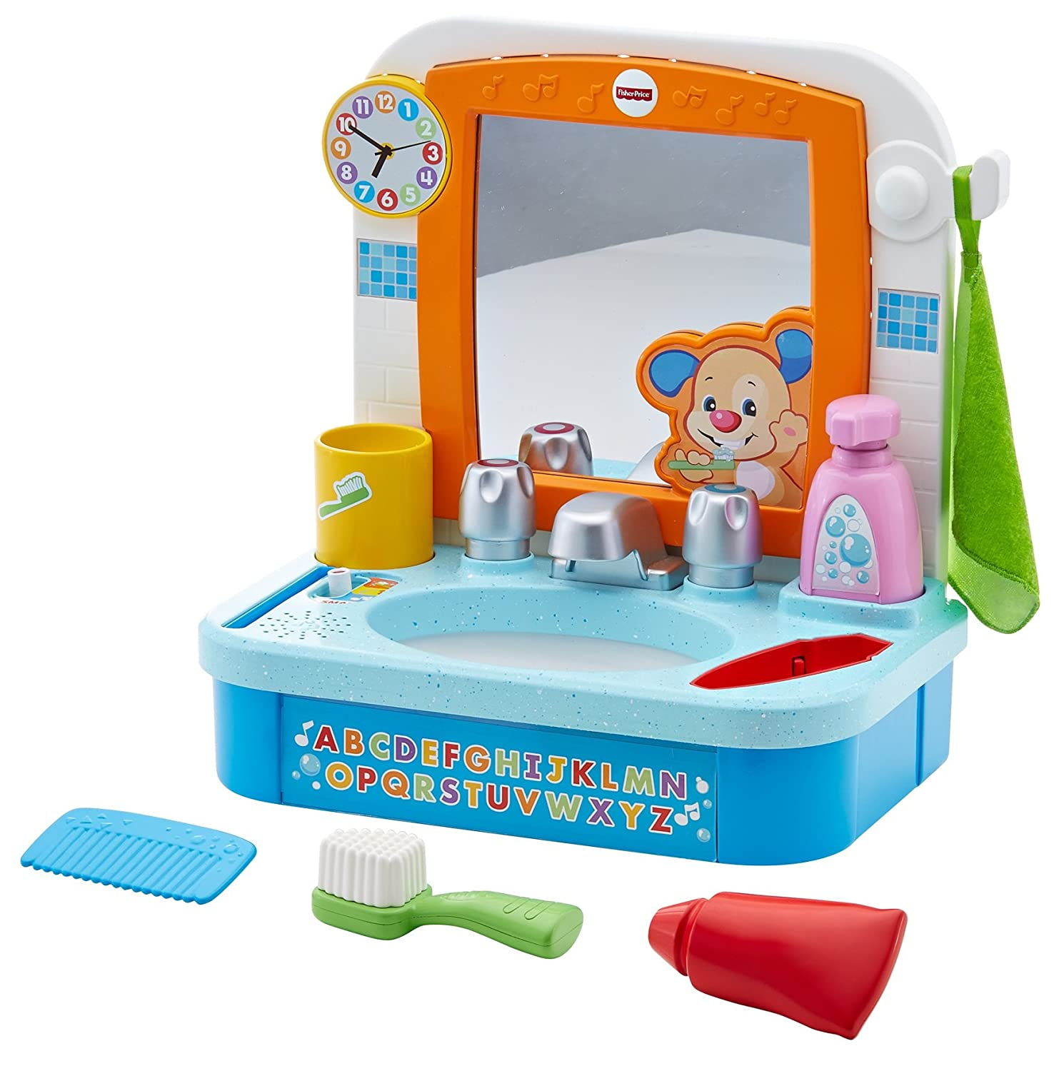 Amazon.com: Fisher-Price Laugh & Learn Let\'s Get Ready Sink: Toys ...