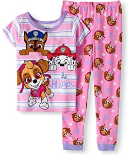 c7c45fab7a Amazon.com  Nickelodeon Girls  Paw Patrol 4-Piece Cotton Pajama Set ...
