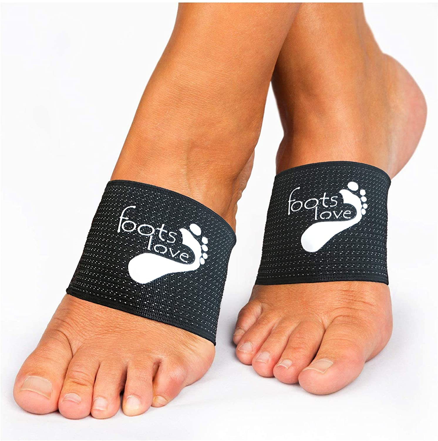 Foots Love- Compression Arch Support Sleeves for Plantar Fasciitis. The Original Nano Sock Copper Bandage. Guaranteed Top Quality. Avoid The Pain.: Health & Personal Care