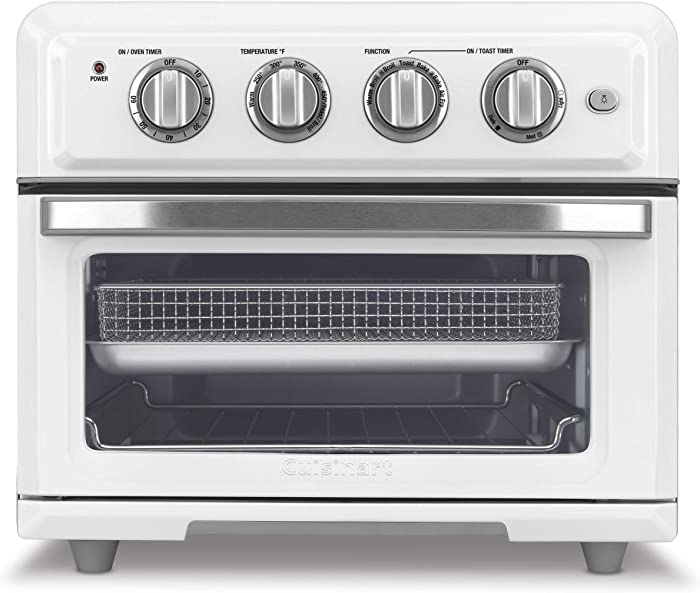 "Cuisinart TOA-60W Toaster Oven Air Fryer, 15.5""(L) x 16.0""(W) x 14.0""(H), White"