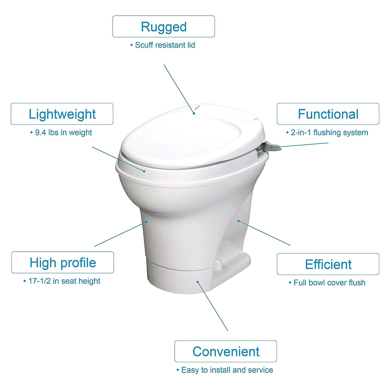 Thetford Aqua Magic V Rv Toilet Hand Flush High Profile How To Install A Plumbing Diagram Help White 31667 Home Improvement