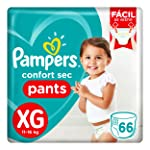 Fralda Pampers Confort Sec Pants Super, XG, 66 Unidades