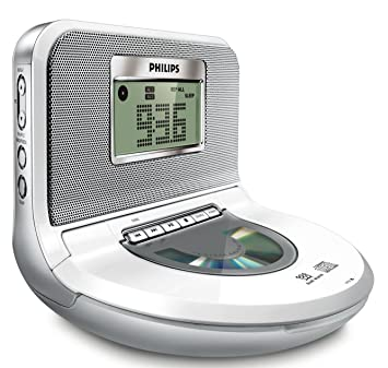 Philips - Radio (Reloj, Digital, FM, 1 W, LCD, Azul