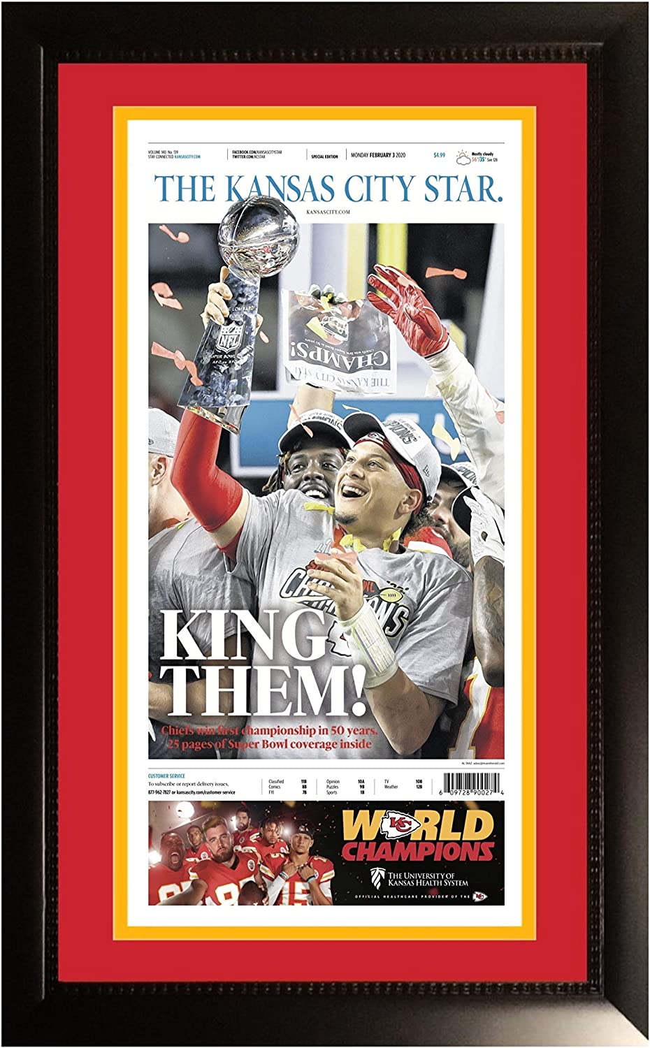 Frames by Mail Kansas City Chiefs Super Bowl 54 Champions