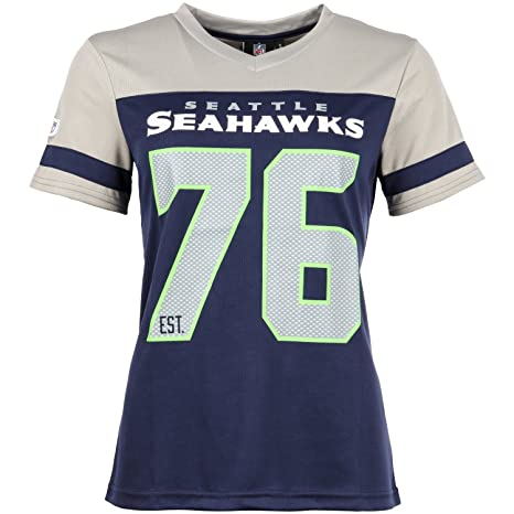 5d65a09c Amazon.com : Majestic NFL Ladies Mesh Jersey Shirt - Seattle ...