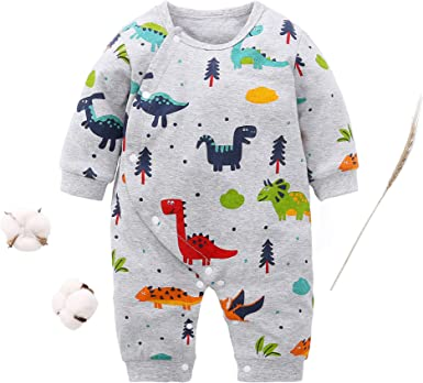 Newborn infant Baby Boy Girl Dinosaur Bodysuit Romper Jumpsuit Cloth Outfits