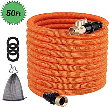 Mwei US has the Tacklife GGH1A 50 ft. Leakproof Expandable Garden Hose