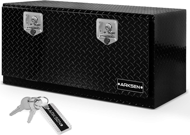 ARKSEN Durable Aluminum Diamond Plate Tool Box