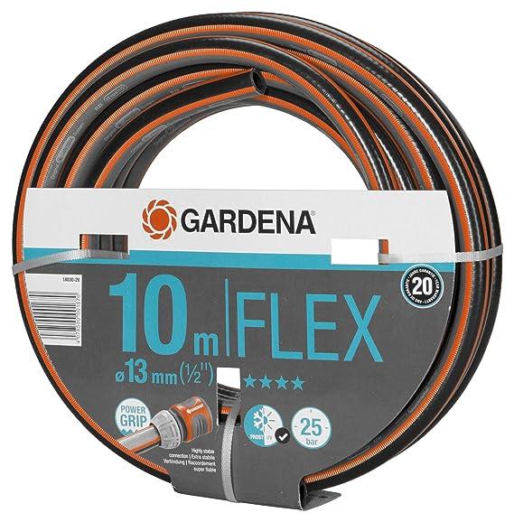 Gardena Comfort Flex Schlauch Formstabiler, Flexibler Gartenschlauch mit Power-Grip-Profil, aus hochwertigem Spiralgewebe, 25