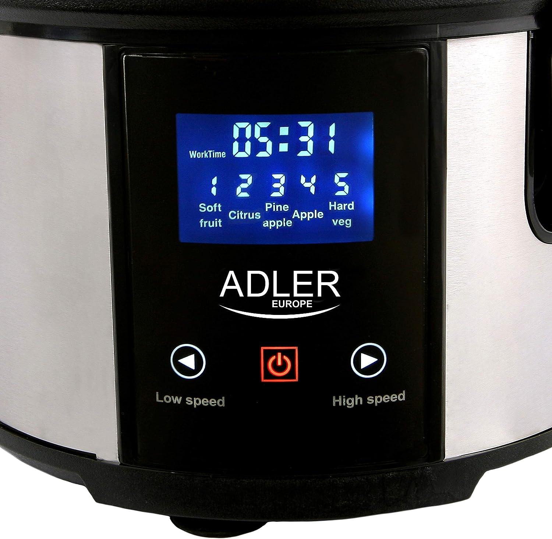 Adler AD4124 Licuadora para Frutas y Verduras Acero Inoxidable ...