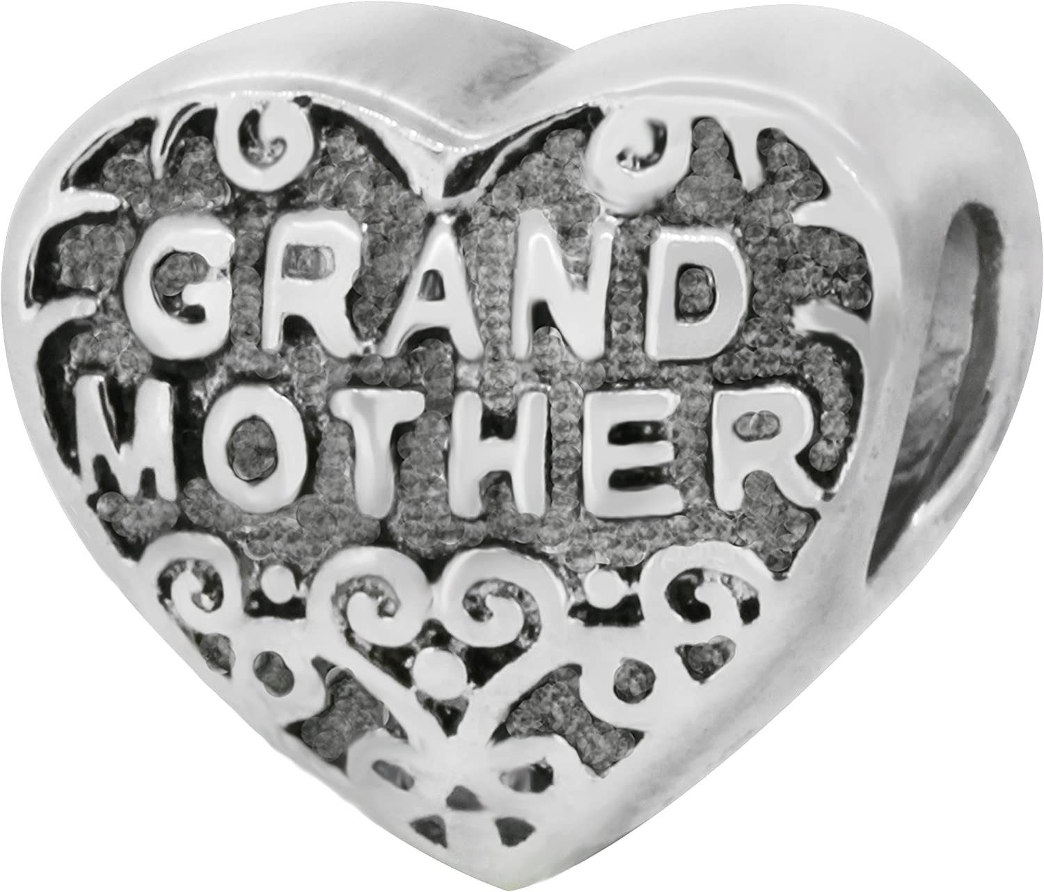 Zable Sterling Silver Bead Grandmother Charm Max 74% Max 63% OFF OFF