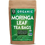 Organic Moringa Tea Bags   100 Tea Bags   Eco-Conscious Tea Bags in Kraft Bag   Raw from India   by FGO