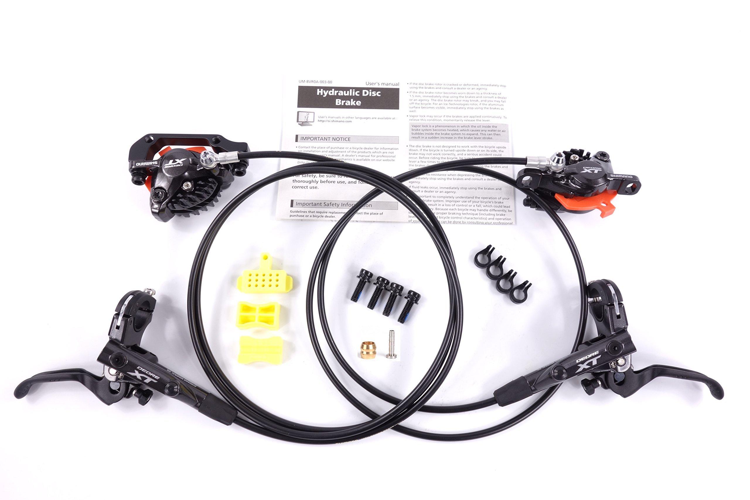 Shimano Deore XT M8000 Hydraulic Disk Brake MTB Front & Rear Set 1000mm/1600mm ice tech