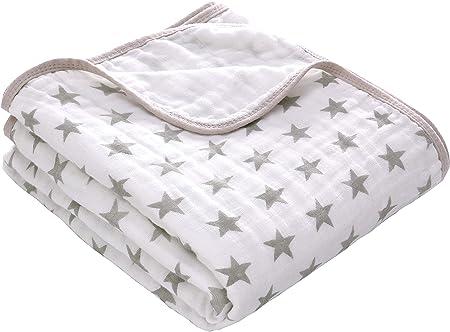 Material ecológico: hecho de muselina 100% algodón. Es suave, cómodo y transpirable para la delicada