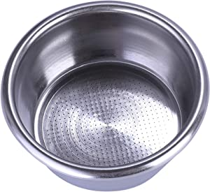 54mm Filter Basket Stainless Steel Portafilter Basket Espresso Handle Basket Compatible with Breville Portafilter BES870XL,BES860XL,BES840XL,Double Cup Coffee Filter Basket Replacement