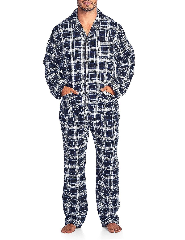 Ashford & Brooks Mens Flannel Plaid Pajamas Long Pj Set AB86522FPJ