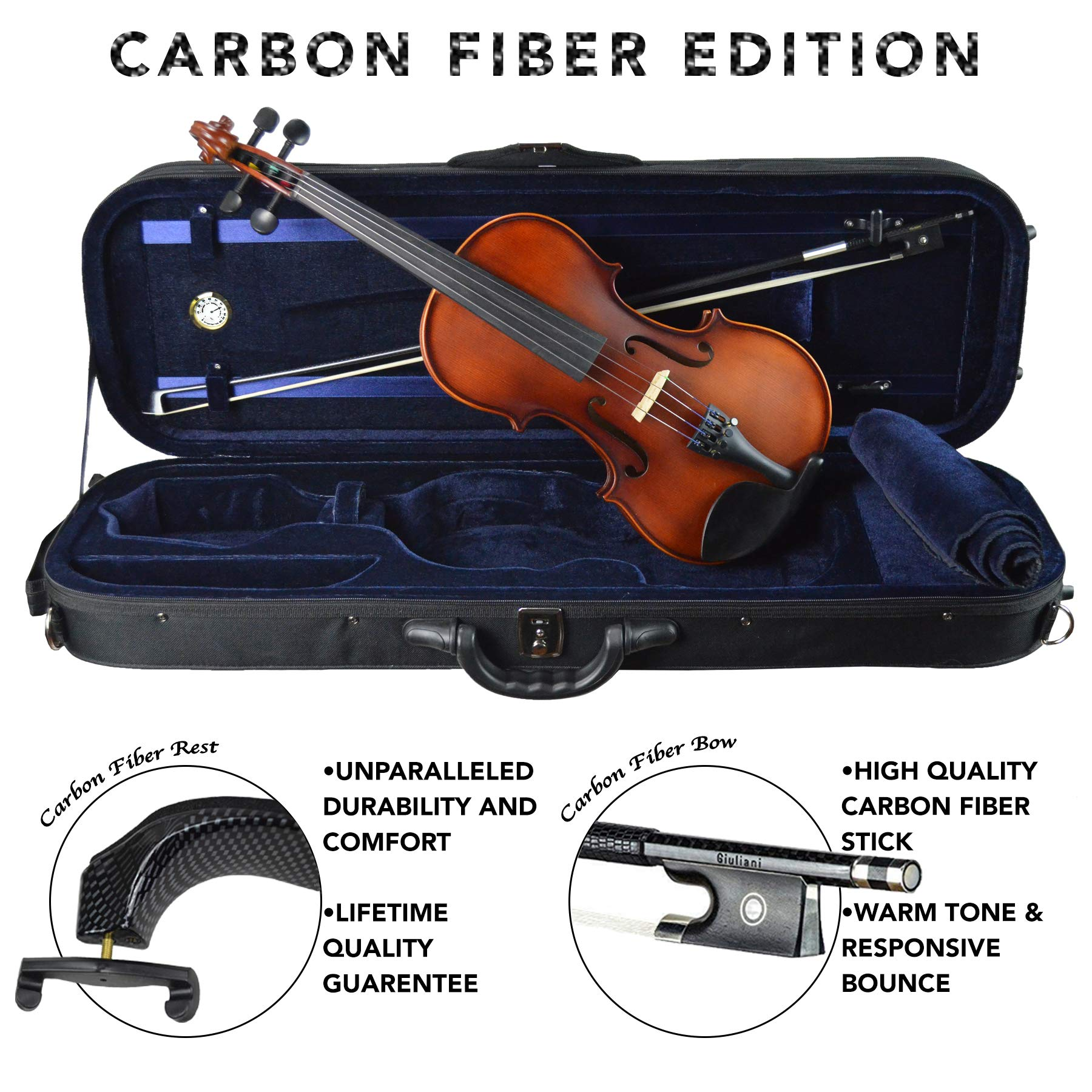 Antonio Giuliani Etude Clearance Violin Outfit 4/4 Full-Size Carbon Fiber Edition