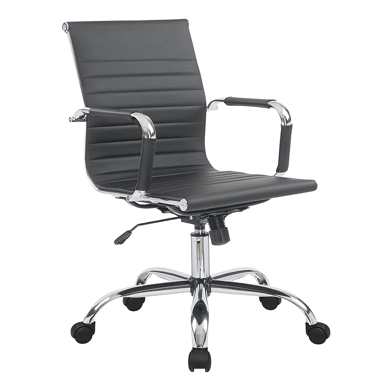 Porthos Home Ardin Office Chair, Black Antique Revival EFC005A BLK